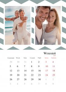 Kalendarz, Kalendarz geometryczny, 30x40 cm