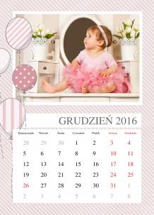 Kalendarz, Najpiękniejsze chwile księżniczki, 30x40 cm