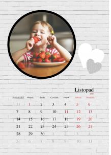 Kalendarz,  Twoje ulubione zdjęcia, 30x40 cm