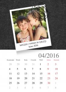 Kalendarz, Tabliczka wspomnień, 30x40 cm
