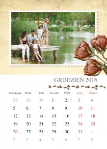 Kalendarz, Vintage, 30x40 cm