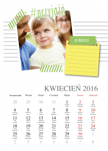 Kalendarz, Zaplanuj sobie rok, 30x40 cm