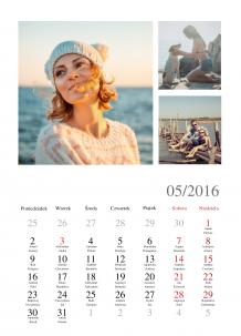 Kalendarz, Chwytaj wspomnienia, 30x40 cm