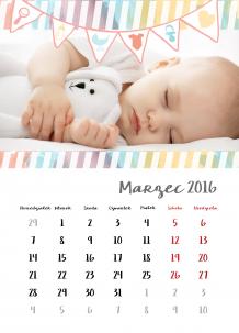 Kalendarz, Mam już roczek, 30x40 cm