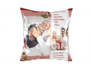 Poduszka, bawełna, Przepis na dobre święta, 25x25 cm