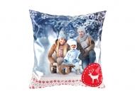 Vankúšik, satén, Čarovná zima, 25x25 cm