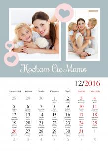 Kalendarz, Wszystkiego najlepszego Mamo, 30x40 cm