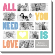 Obraz, All you need is love, 70x70 cm