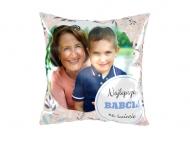 Poduszka, satyna, Najlepsza Babcia na świecie, 25x25 cm