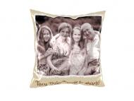 Poduszka, bawełna, Z albumu rodzinnego, 38x38 cm