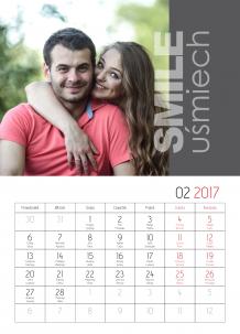 Kalendarz, Dobrana para, 30x40 cm