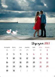 Kalendarz, Kalendarz pełen miłości, 30x40 cm