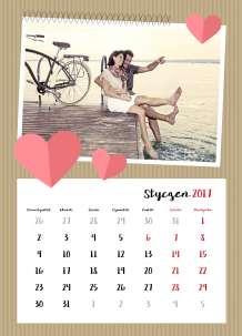 Kalendarz, Zakochani są wśród nas, 30x40 cm