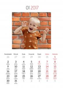 Kalendarz, Twój projekt kalendarza, 20x30 cm