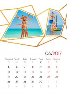 Kalendarz, Złote szaleństwo, 30x40 cm