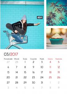 Kalendarz, Twój kalendarz nowoczesny, 30x40 cm
