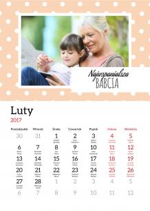 Kalendarz, Kochanej Babci, 20x30 cm