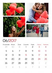 Kalendarz, Twój kalendarz miłosny, 30x40 cm