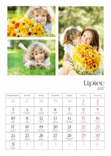Kalendarz, Twój kalendarz dziecięcy, 30x40 cm