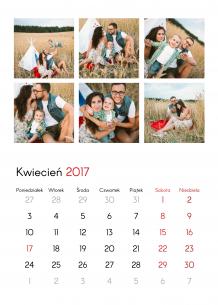 Kalendarz, Mozaikowe wspomnienia, 30x40 cm