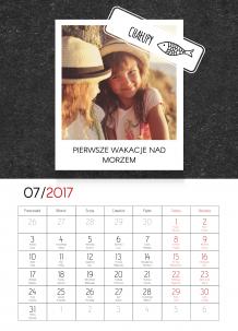Kalendarz, Tabliczka wspomnień, 20x30 cm