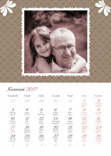 Kalendarz, Z albumu rodzinnego, 30x40 cm