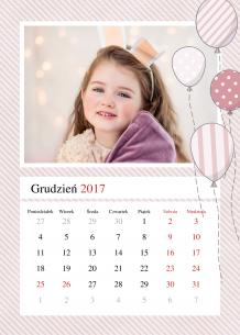 Kalendarz, Najpiękniejsze chwile księżniczki, 20x30 cm