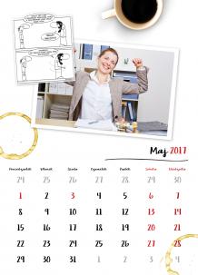Kalendarz, Biurowy strażnik weekendów, 30x40 cm