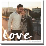 Obraz, To właśnie miłość, 40x40 cm