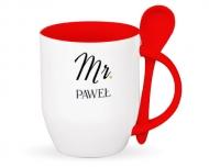 Kubek z łyżeczką, Mr. & Mrs. I
