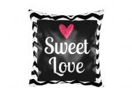 Poduszka, satyna, Słodka miłość, 25x25 cm
