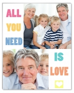 Fotopanel, All you need is love, 10x15 cm