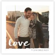 Plakat, To właśnie miłość, 30x30 cm