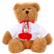 Plyšák Miś brązowy z serduszkami, Váš návrh medvídek hnědý