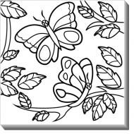 Obraz, Motyle + Farby, 30x30 cm