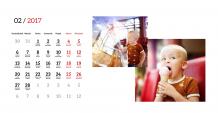 Kalendarz, Twój projekt kalendarza, 22x10 cm