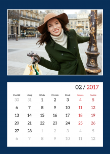 Kalendář, Hezký kalendář, 20x30 cm