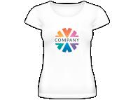 Tričko dámska, Firemné tričká s logom