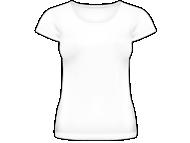 Tričko dámska, Prázdna šablóna