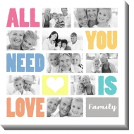 Obraz, All you need is love, 30x30 cm