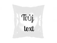 Polštářek, satén, Tvůj text, 25x25 cm