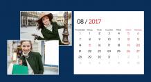 Kalendarz, Szykowny kalendarz, 22x10 cm