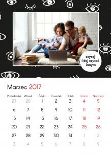 Kalendarz, Zaczytani, 30x40 cm