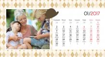 Kalendarz, Dla Babci i Dziadka, 22x10 cm