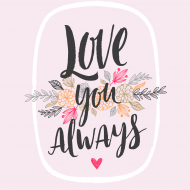 Magnes Love you always, 3,5x3,5 cm