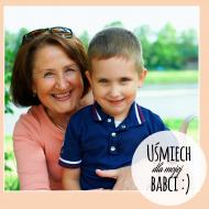 Magnes Uśmiech dla babci, 3,5x3,5 cm