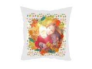 Poduszka, satyna, Jesienne wspomnienia, 25x25 cm