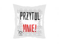 Poduszka, satyna, Przytul mnie!, 25x25 cm