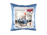 Poduszka, zamsz, Komiks, 40x40 cm