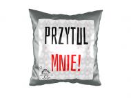 Poduszka, zamsz, Przytul mnie!, 40x40 cm